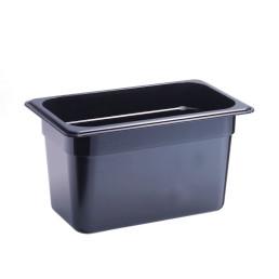 GN-Behälter, GN 1/4, 265 x 162 x 150 mm, Polycarbonat, schwarz