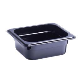 GN-Behälter, GN 1/6, 176 x 162 x 50 mm, Polycarbonat, schwarz