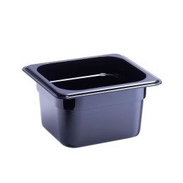 GN-Behälter, GN 1/6, 176 x 162 x 100 mm, Polycarbonat, schwarz