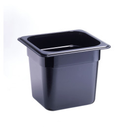 GN-Behälter, GN 1/6, 176 x 162 x 150 mm, Polycarbonat, schwarz