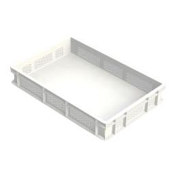 Nudelteig-Box, Seiten perforiert, Polyethylen, weiß, 600 x 400 x 100 mm