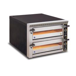 Pizzaofen, 2 Backkammern für 8 Pizzen ø 330 mm, Vollschamott, Sicherheitsschütze