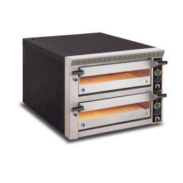 Pizzaofen, 2 Backkammern für 12 Pizzen ø 330 mm, Vollschamott, Sicherheitsschütze