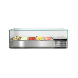 Kühlaufsatzvitrine mit Glasaufsatz 5 x GN 1/3
