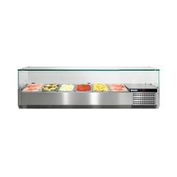 Kühlaufsatzvitrine mit Glasaufsatz 6 x GN 1/3