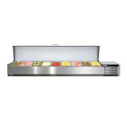 Kühlaufsatzvitrine mit Edelstahldeckel 9 x GN 1/3