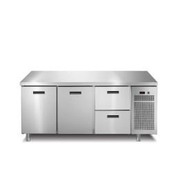 Kühltisch 2 Türen 2 Schubladen ohne Aufkantung