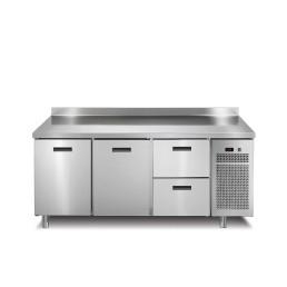 Kühltisch 2 Türen 2 Schubladen mit 50 mm Aufkantung