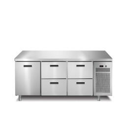 Kühltisch 1 Tür 4 Schubladen ohne Aufkantung