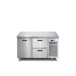 Tiefkühltisch 1 Tür 2 Schubladen ohne Aufkantung