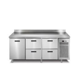 Tiefkühltisch 1 Tür 4 Schubladen mit 50 mm Aufkantung