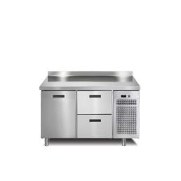 Tiefkühltisch 1 Tür 2 Schubladen mit 50 mm Aufkantung