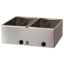 Elektro-Bain-Marie 2 x GN 1/1 H=150 mm 690 x 540 x 250 mm