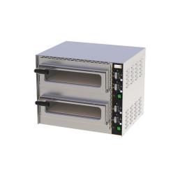 Profi Mini-Pizzaofen, 2 Backkammern für 2 Pizzen ø 350 mm