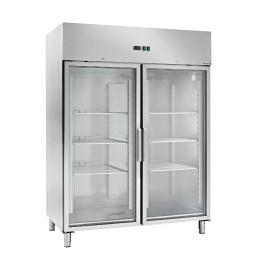 Umluft-Kühlschrank Glastür 1400 l GN 2/1 1480 x 830 x 2010 mm