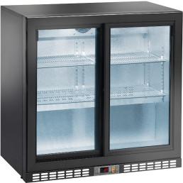Flaschenkühlschrank 220 l 2 Glasschiebetüren 4 Roste