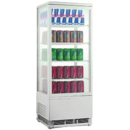 Tischkühlvitrine Umluft 98 l 428 x 386 x 1110 mm