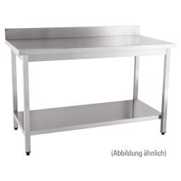 Arbeitstisch zur Selbstmontage mit Boden 100 mm Aufkantung 1600 x 700 x 850 mm