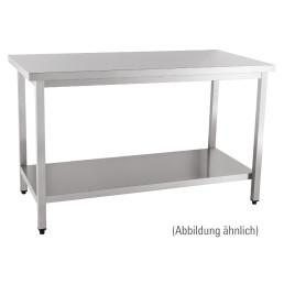 Arbeitstisch fertig montiert mit Boden ohne Aufkantung 2000 x 600 x 850 mm