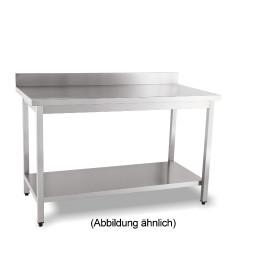 Arbeitstisch fertig montiert mit Boden 100 mm Aufkantung 2000 x 700 x 850 mm