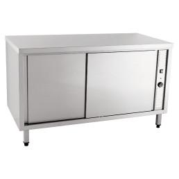Wärmeschrank mit Schiebetüren ohne Aufkantung 1200 x 600 x 850 mm