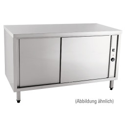 Wärmeschrank mit Schiebetüren ohne Aufkantung 1200 x 700 x 850 mm