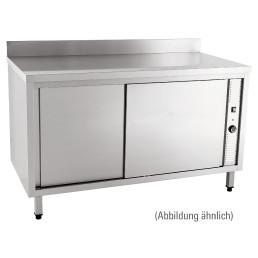 Wärmeschrank mit Schiebetüren mit 100 mm Aufkantung 1800 x 600 x 850 mm