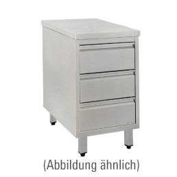 Schubladenschrank ohne Aufkantung 480 x 700 x 850 mm