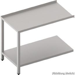 Ablauftisch mit Ablagebord, 700 mm breit