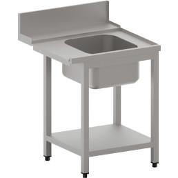 Zulauftisch rechts mit Becken und Ablagebord
