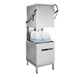 Hauben-Spülmaschine mit Ablaufpumpe und Reinigerdosierer