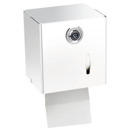 Toilettenpapier-Spender, rechteckig, Metall weiß
