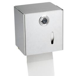 Toilettenpapier-Spender, rechteckig, Edelstahl matt
