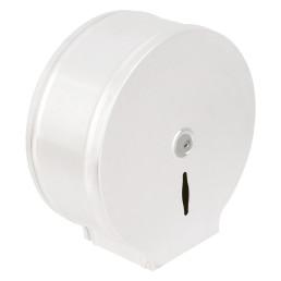 Toilettenpapier-Spender, für 400 m Rolle, Metall weiß