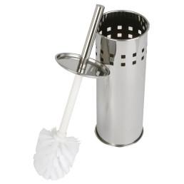 Toilettenbürste mit Behälter, Edelstahl matt