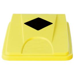Deckel mit Einwurföffnung quadratisch gelb für Wertstoffsammler 80 l
