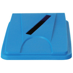 Deckel mit Einwurfschlitz blau für Wertstoffsammler 80 l
