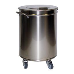 Abfalleimer 95 l ø 450 mm mit Deckel 450 x 450 x 685 mm