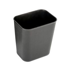 Abfallbehälter, 13,6 l, eckig, schwarz