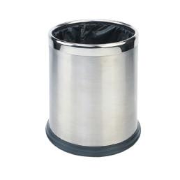 Abfallbehälter, 10,0 l, rund, doppelwandig, Edelstahl matt