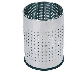 Abfallbehälter, 10,0 l, rund, perforiert, Edelstahl poliert
