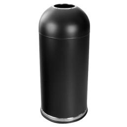 Abfallbehälter, mit Einwurföffnung, 52,0 l, rund, Metall schwarz