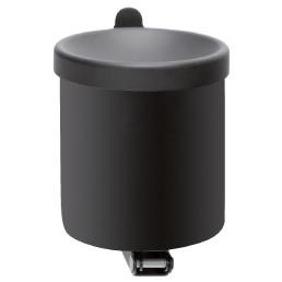 Wandascher, 1,5 l, rund, schwarz