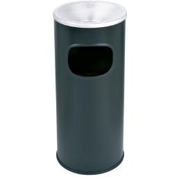 Ascher-Abfallkombination 30 l beschichtetes Metal schwarz