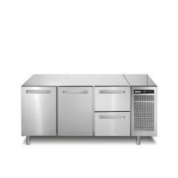 Kühltisch 252 l GN 1/1 2 Türen 2 Schubladen 1780 x 700 x 850 mm