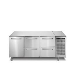 Kühltisch 252 l GN 1/1 1 Tür 4 Schubladen 1780 x 700 x 850 mm