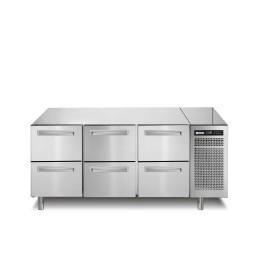 Kühltisch 252 l GN 1/1 6 Schubladen 1780 x 700 x 850 mm