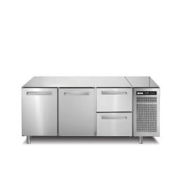 Kühltisch, 252 l, GN 1/1, 2 Türen und 2 Schubladen
