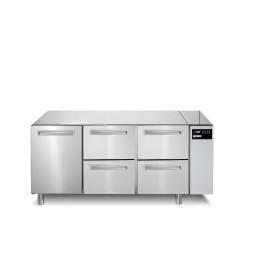 Kühltisch 252 l GN 1/1 1 Tür 4 Schubladen für Zentralkühlung