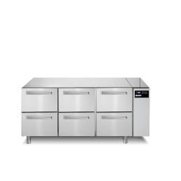 Kühltisch 252 l GN 1/1 6 Schubladen für Zentralkühlung
